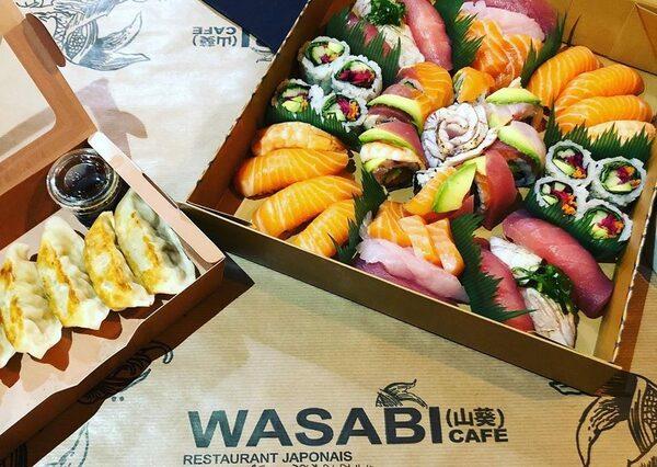 Plateau à emporter du wasabi café bordeaux bastide